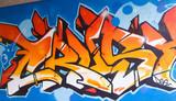 Graffiti Orange Tag
