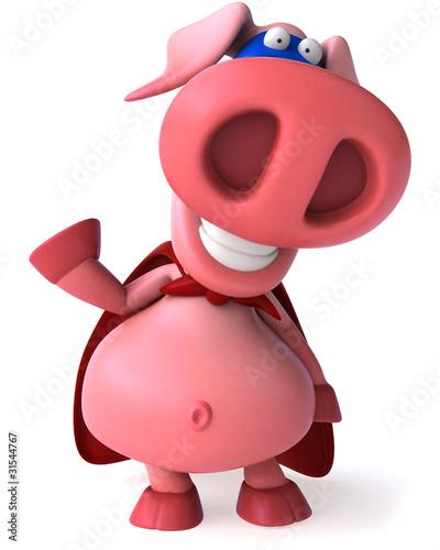 Fotobehang Boerderij Super cochon