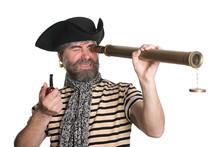Pirate Looks Through A Telescope