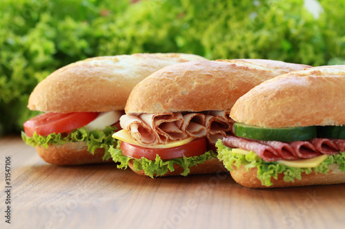 Foto op Canvas Snack Sandwiches