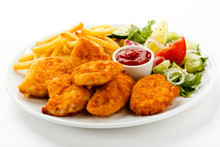 Fried Chicken Nuggets, French ...