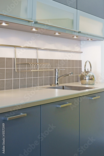 Cuisine Moderne Bleu Gris 23 Buy This Stock Photo And Explore