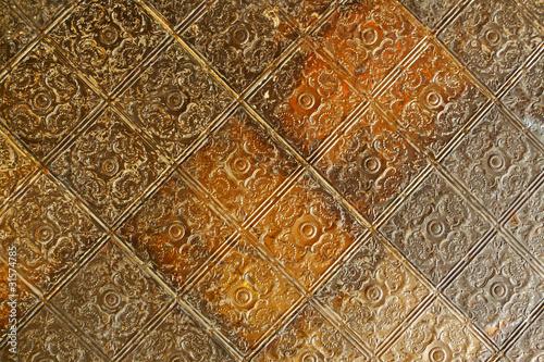 Fotografija Nineteenth century embossed tin ceiling tiles