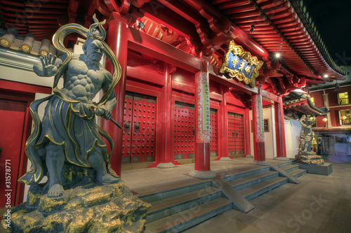 Buddha Tooth Relic Temple Door Guardians