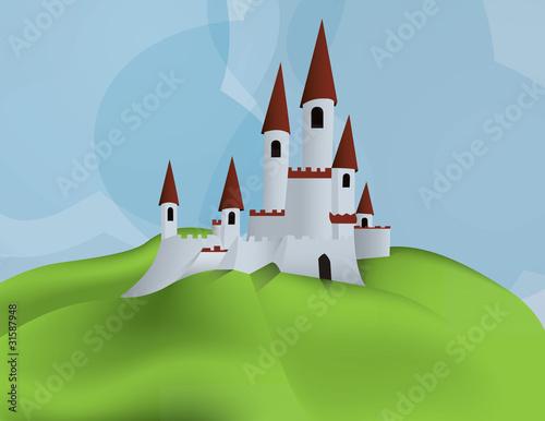 Poster Castle Castle on a hill