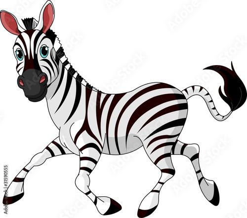 Poster Magie Funny running Zebra
