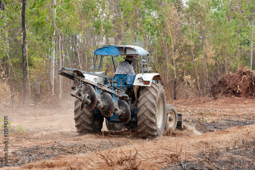 Fototapety, obrazy: Traktor
