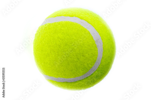 In de dag Bol A tennis ball isolates on the white background.