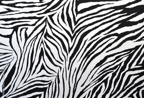 Poster Zebra zebra style fabric