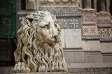 Lion sculpture, Cathedral of St. Lawrence, Genoa, Italy