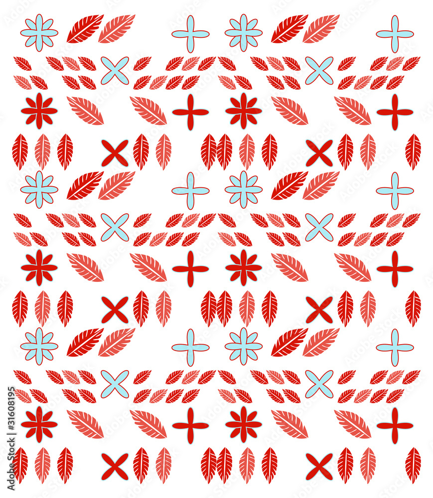 Embroidery seamless pattern illustration on white background