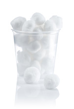 Cotton Balls In Jar Isolated