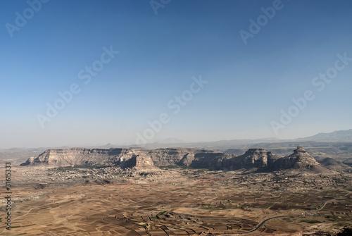 Garden Poster Natural Park desert and mountains near sanaa yemen