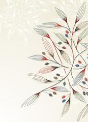 Naklejka Florystyczny floral background