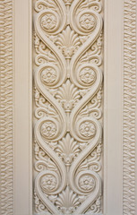 Panel Szklany Podświetlane Ornamenty Thai style desing craft concrete wall