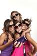 four beauty girls in studio