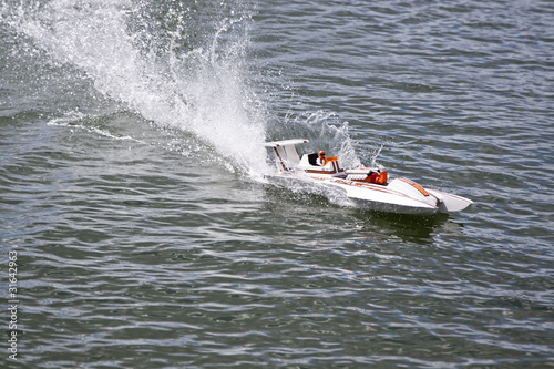 Poster Water Motor sports speed boat