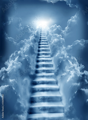 Photo  stairs in sky