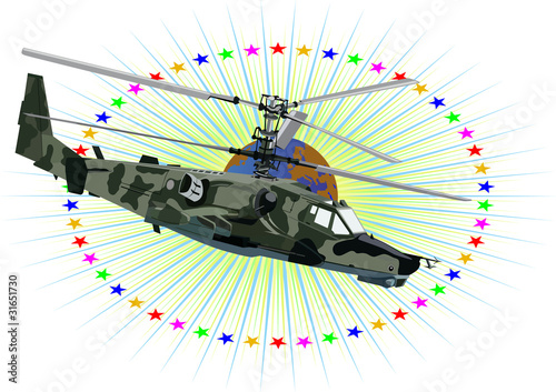 Poster Militaire Russian military helicopter