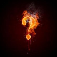 Fire Swirl Question Mark