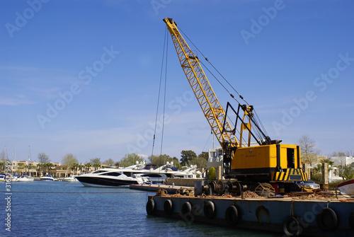 marine dredging digging sea Canvas-taulu