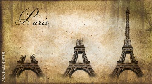Fotografie, Obraz  Paris, construction de la tour Eiffel