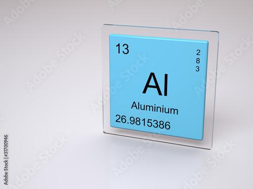 Aluminium Symbol Al Chemical Element Of The Periodic Table Buy