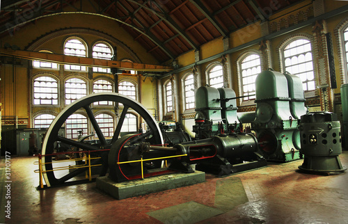 Industrial machines Canvas Print
