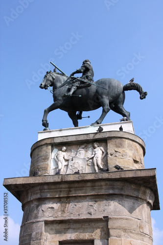 Sculpture by Donatello - equestrian knight Poster