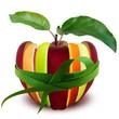 Pomme panachée.