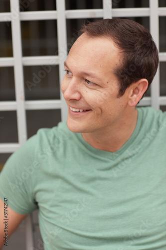 Fotografia, Obraz  Image of a handsome man smiling