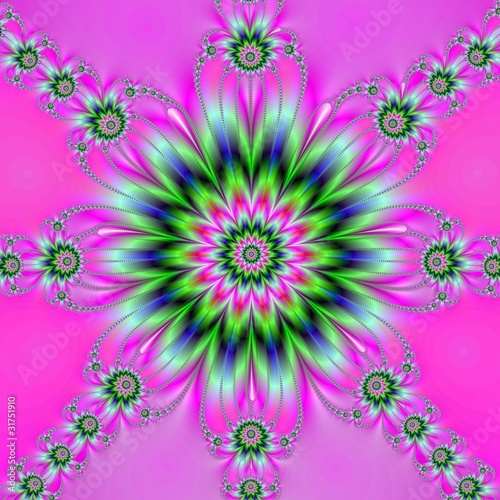 Poster Psychedelique Rosette on Pink