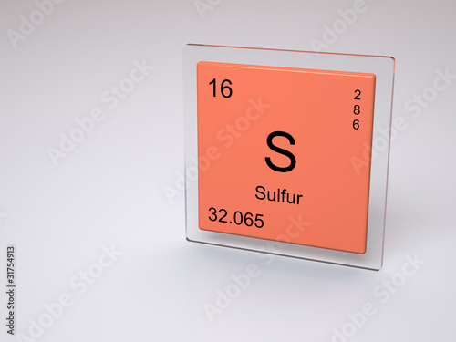Sulfur Symbol S Chemical Element Of The Periodic Table Buy