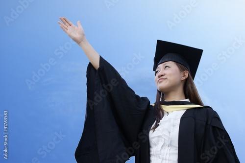 Fotografiet  Aspiring asian graduate