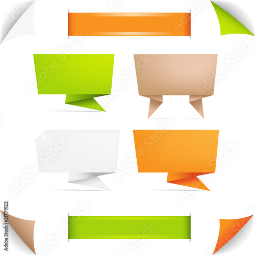 Origami Color Paper Poster
