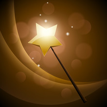 Golden Magic Wand