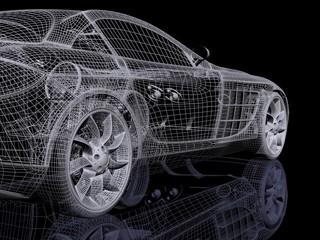 Fototapeta na wymiar 3d automobile