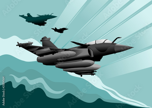 Poster Militaire military aircraft