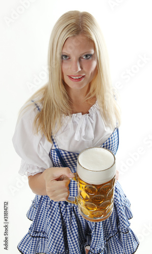 Canvas Prints Fairytale World Woman with beer mug
