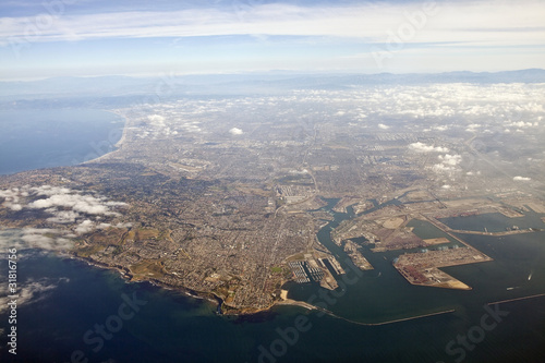 Photo Stands Los Angeles LA Harbor Aerial