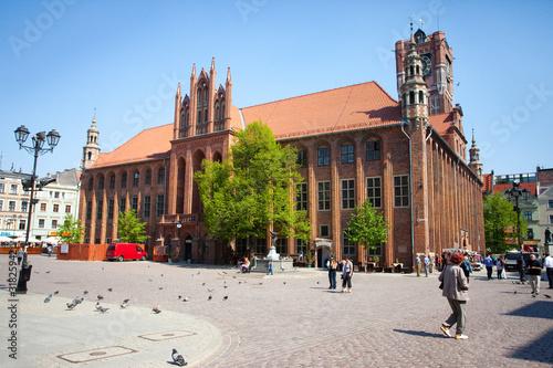 Fotografia Town Hall-monument Unesco in Torun, Poland