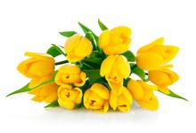 Yellow Tulip Flowers Bouquet