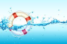 Lifebouy In Water