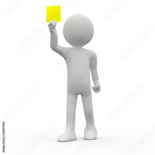 Fotografie, Tablou  Referee showing yellow card
