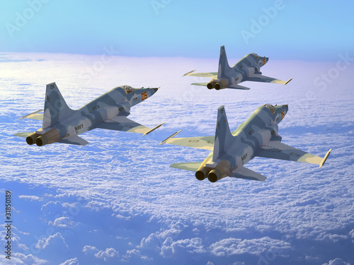 Foto op Canvas Militair The plane