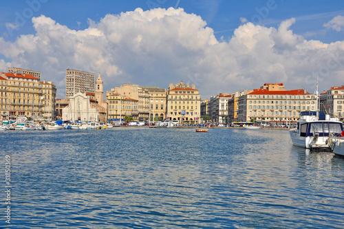 Poster Ville sur l eau Marseille, vue du fery boat