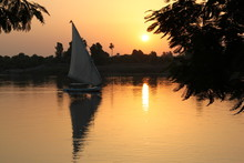 Egypt, Sunset Over The Nile, W...
