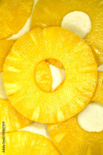 Photo Stands Slices of fruit Pineapple
