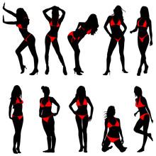 Set Of Bikini Woman