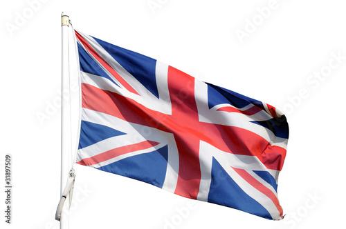 Bandiera inglese isolata Canvas Print